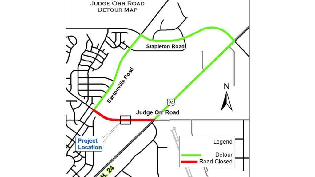 Judge Orr Road closure