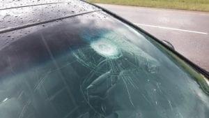 Windshield hail damage