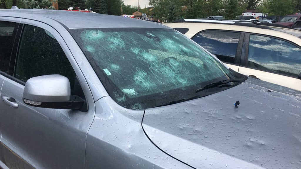 Cheyenne Mountain Zoo parking lot damage
