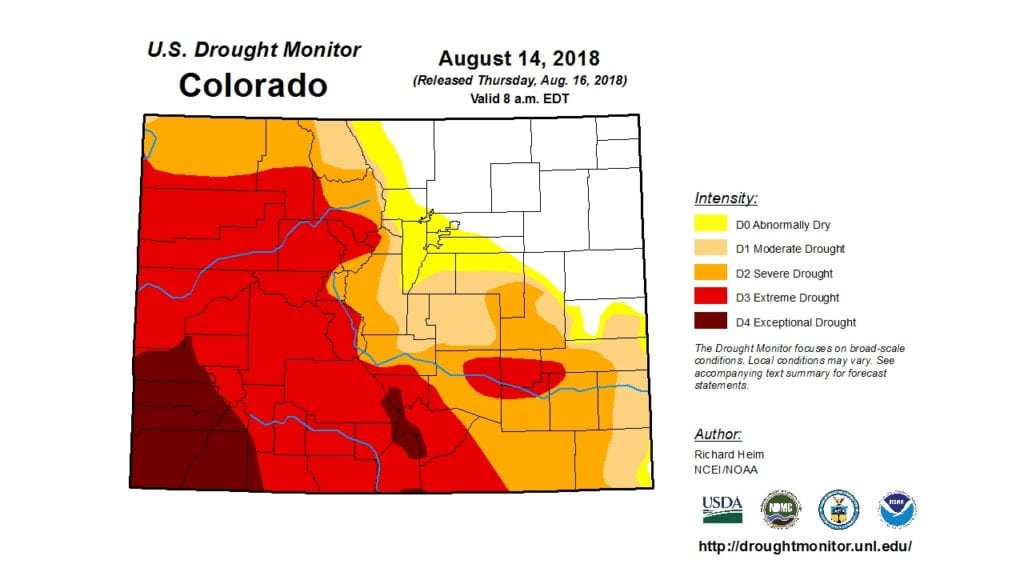 Drought Monitor 8/14/2018