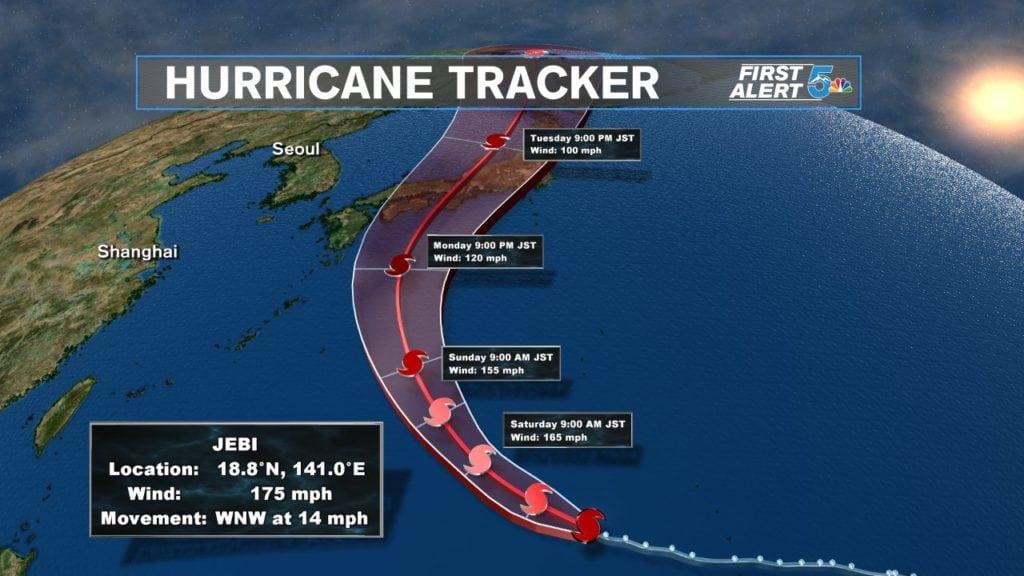 Super Typhoon Jebi Track