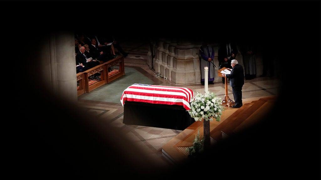 McCain's casket