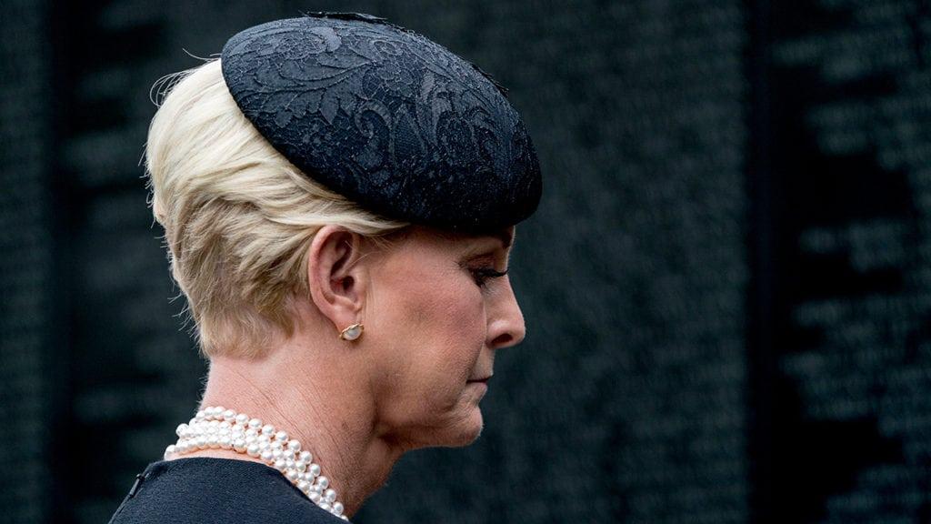 Cindy McCain mourns her husband