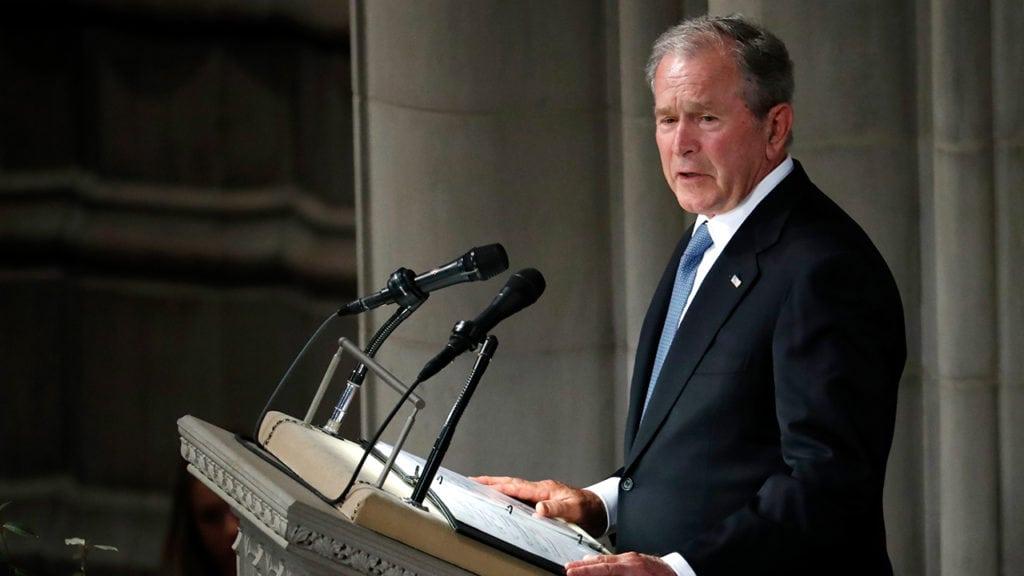 Bush speaks at McCain's funeral