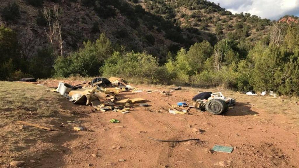 Deputies post photos of illegal dumping along Phantom Canyon Road