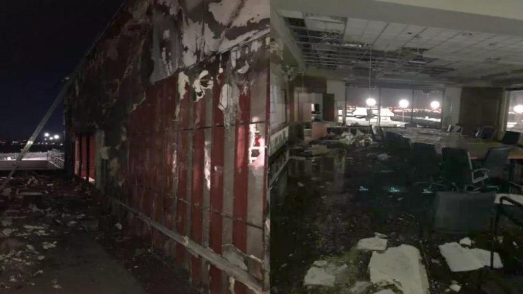 Colorado Springs Airport Fire Damage