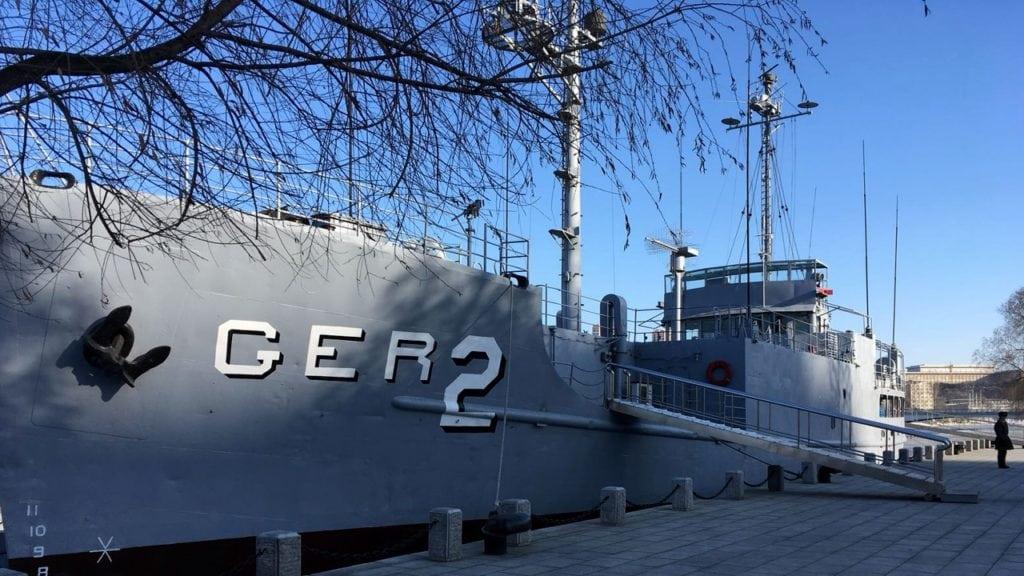 USS Pueblo at dock