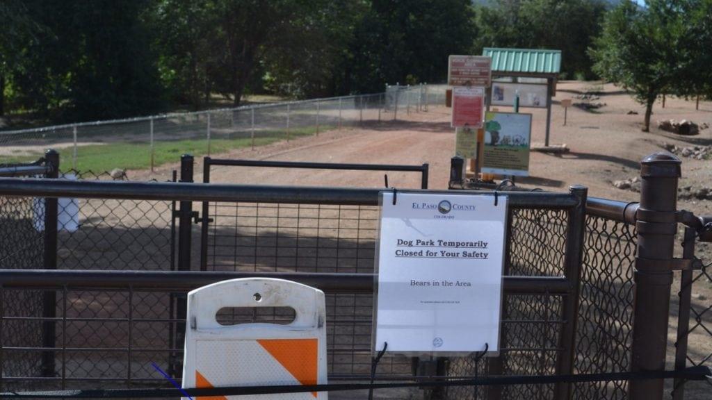 Bear Creek Dog Park signs