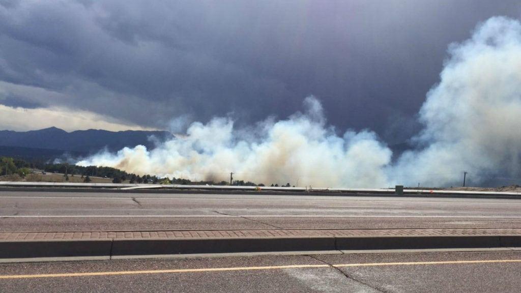 Brush fire USAFA