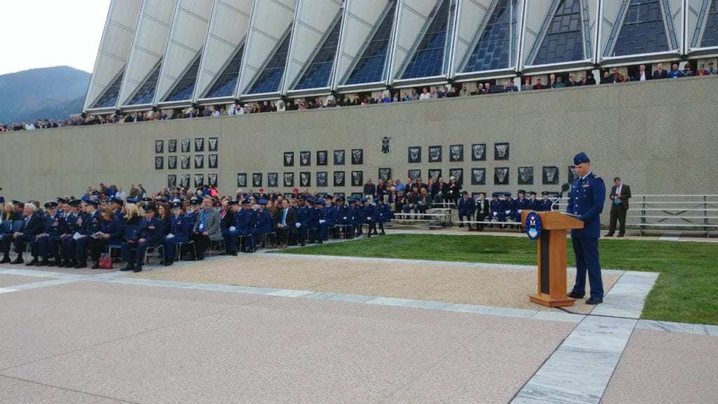 The Air Force Academy hosts its annual Homecoming Memorial Ceremony, honoring the lives of 139 graduates and former staff members that passed away since the 2017 ceremony.