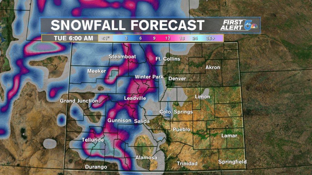 Extended Snowfall Forecast