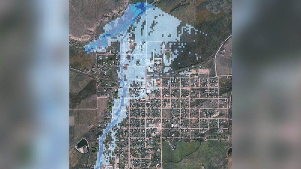 La Veta flooding map
