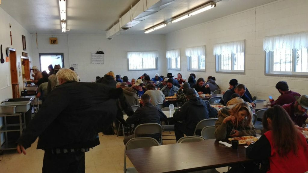 More than 100 people came to the Pueblo Community Soup Kitchen on Oct. 22, 2018, for a hot meal. Many of the kitchen's diners are homeless and concerned about where they'll sleep this winter, following a canceled deal for a homeless shelter.