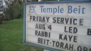 File footage of what the vandalism at Temple Beit Torah looked like in August of 2017.