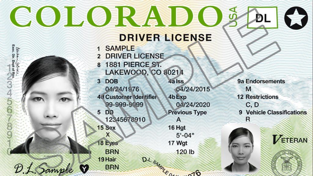 Colorado Driver License Sample