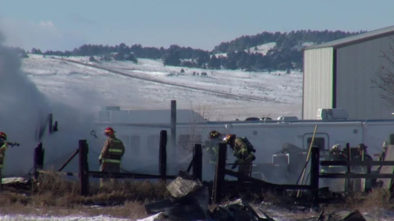 Ellicott Highway Barn Fire