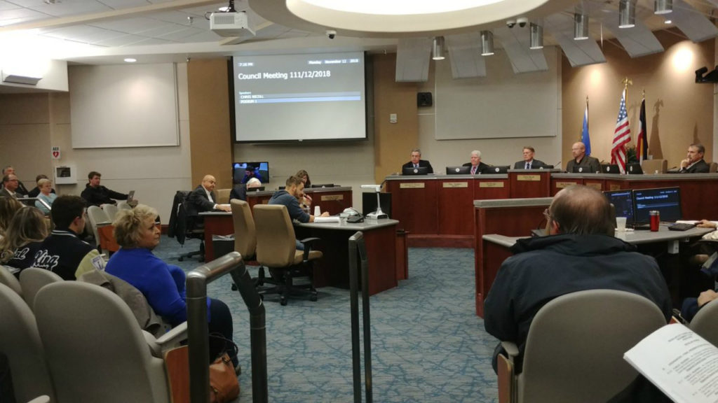 The Pueblo City Council hosts a meeting on Nov. 12, 2018, including an emergency ordinance to create a homeless warming shelter in the city. Council passed the ordinance unanimously.