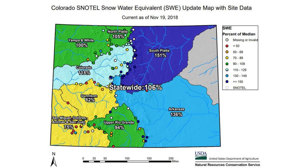 SNOWTEL Map