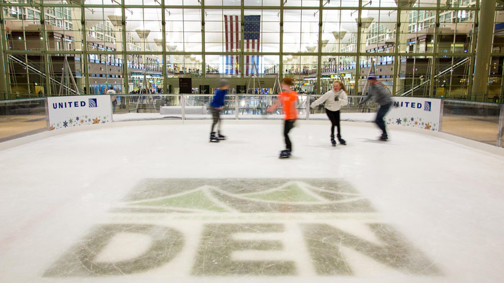 Denver International Airport Opens Free Ice Skating Rink