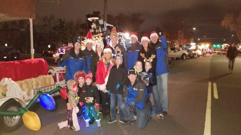 News 5 team at the Pueblo Parade of Lights