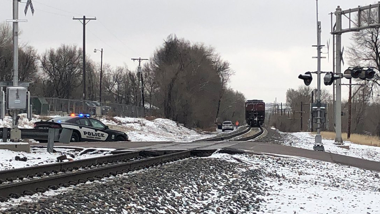 Train vs. pedestrian