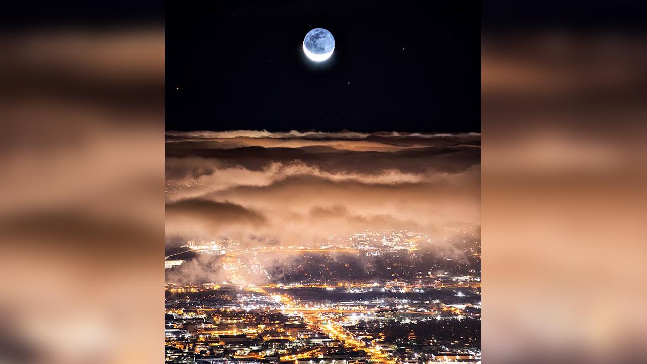 Colorado Springs moonrise