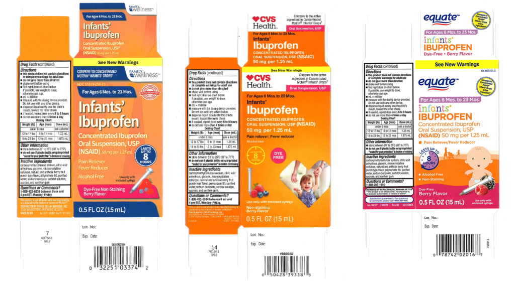 recalled infant ibuprofen