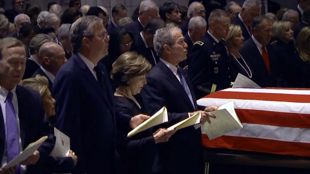 President George HW Bush funeral