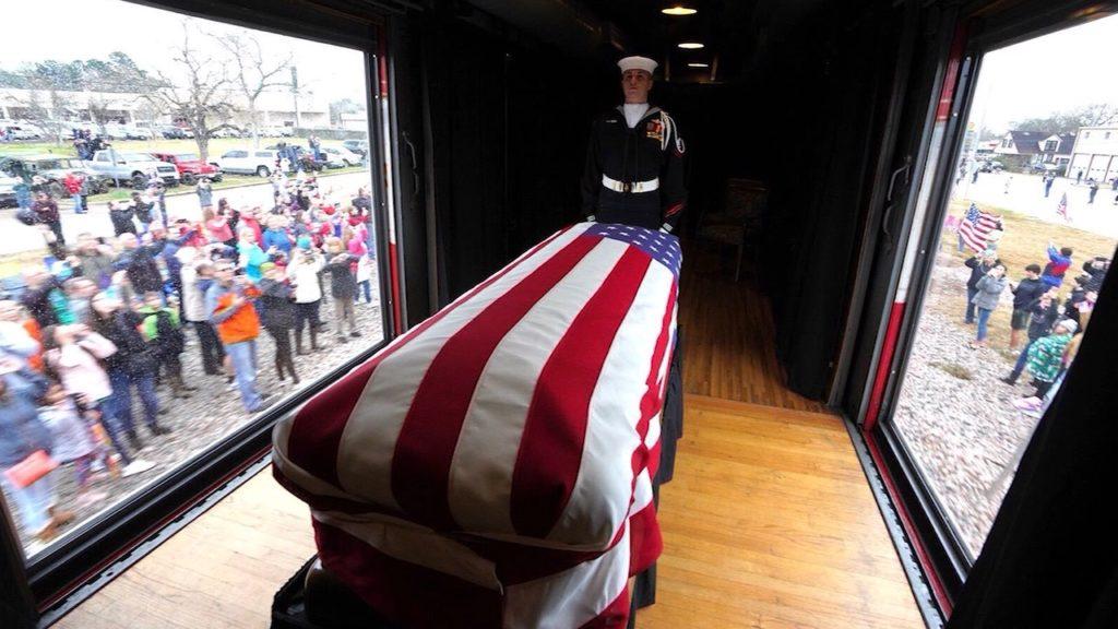 George H.W. Bush casket