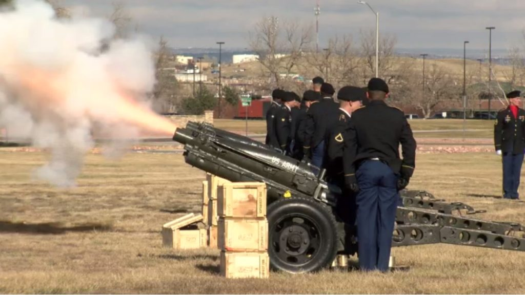 21-gun cannon salute