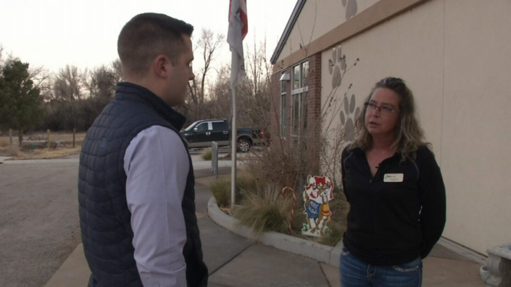 PAWS for Life Director Linda Mitchell talks with News 5's Sam Kraemer after her nonprofit was selected to operate the animal shelter and enforcement in the City of Pueblo and Pueblo County.