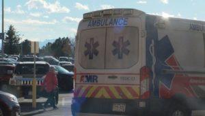 Ambulance responds to minor medical call at Chapel Hills Mall.