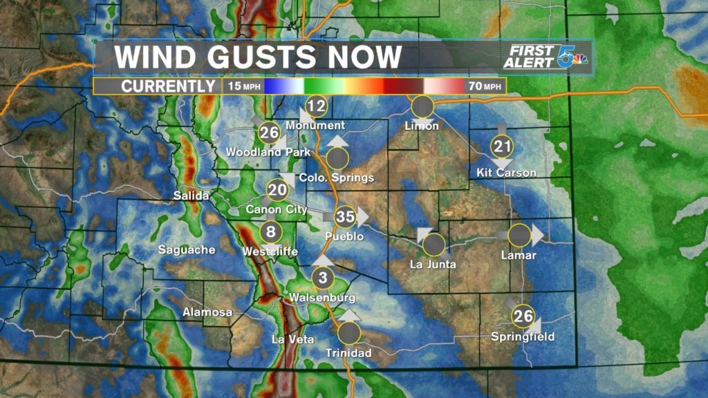 Wind Gusts Now