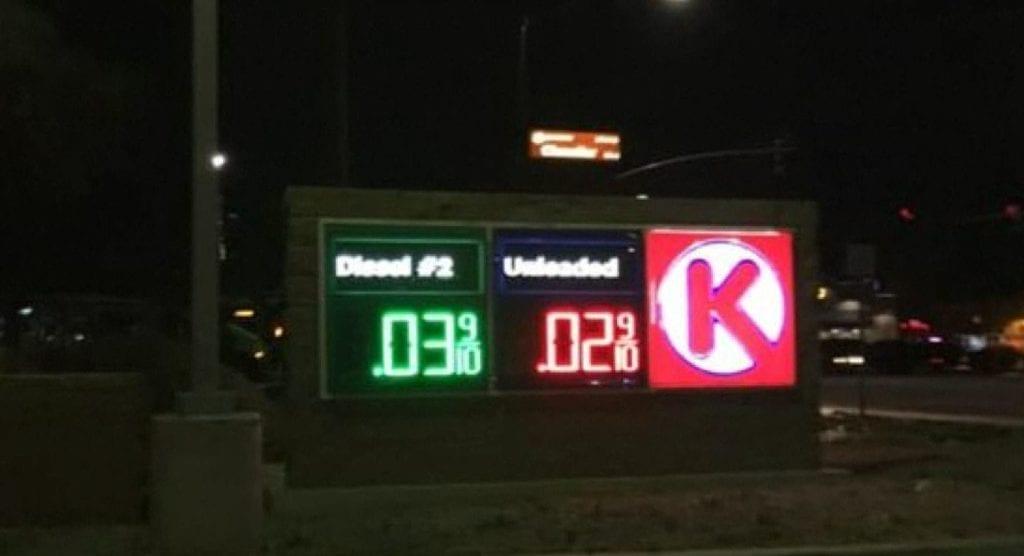 Gas price glitch