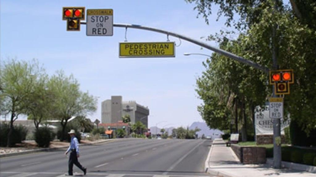 HAWK pedestrian crossing