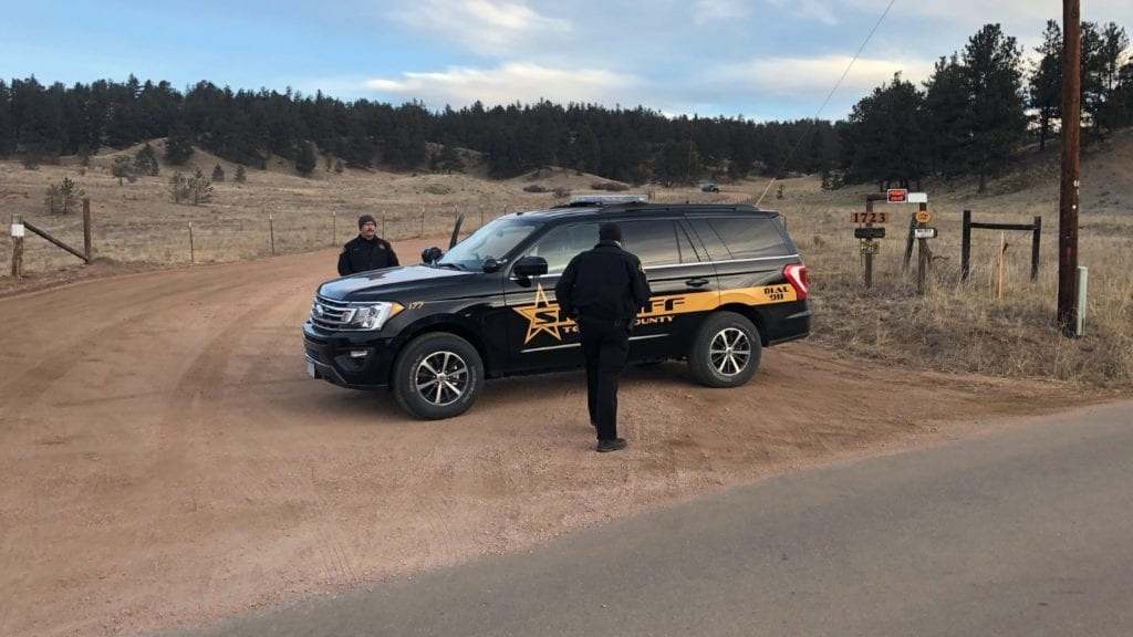 Deputies at Frazee property