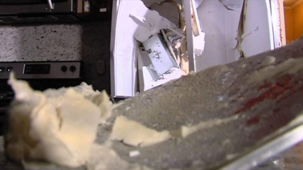 Exploded refrigerator