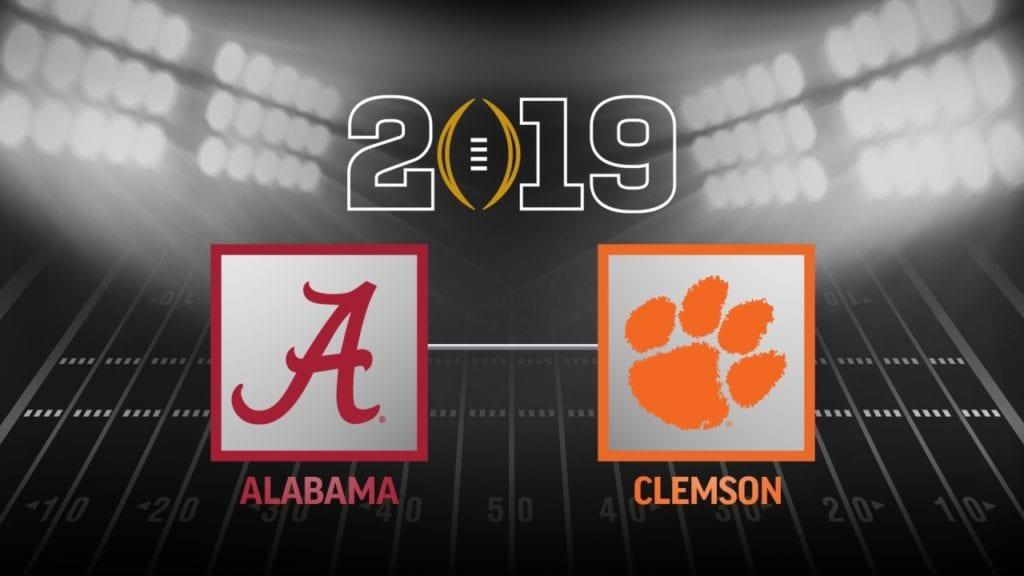 Alabama and Clemson