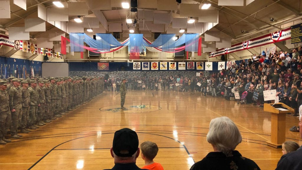 Fort Carson homecoming