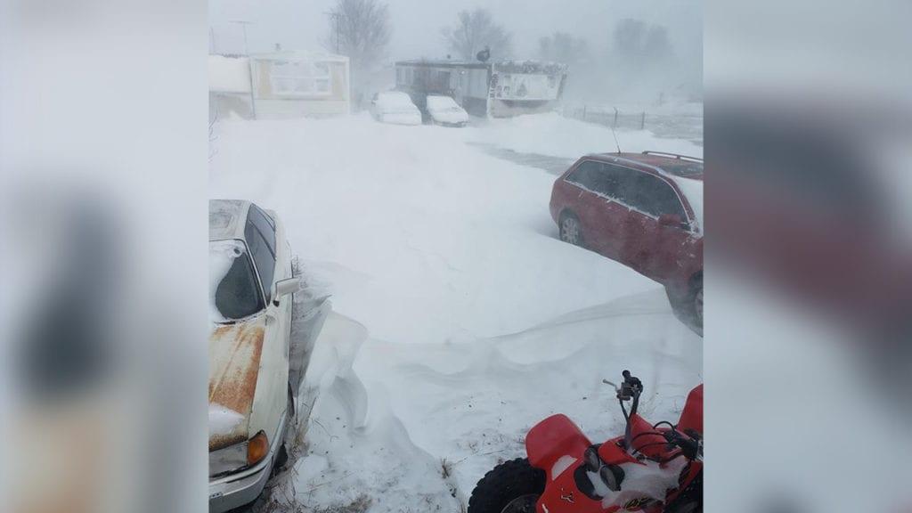 Calhan snow drifts
