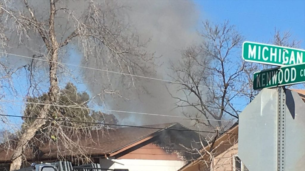 House fire reported on Kenwood Circle