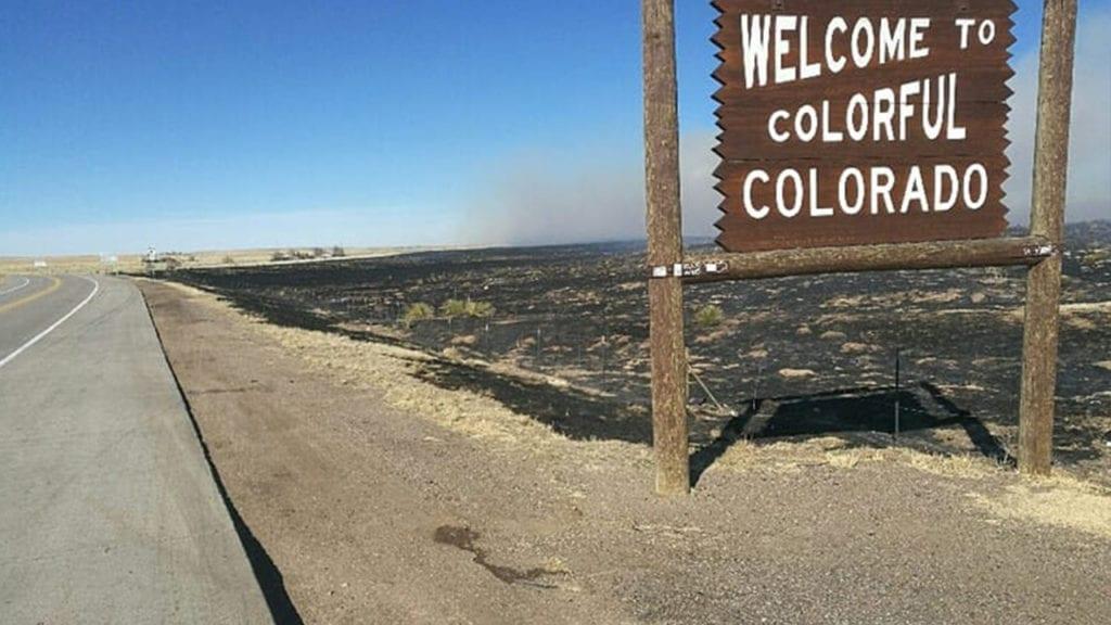 Baca County fire burn scar