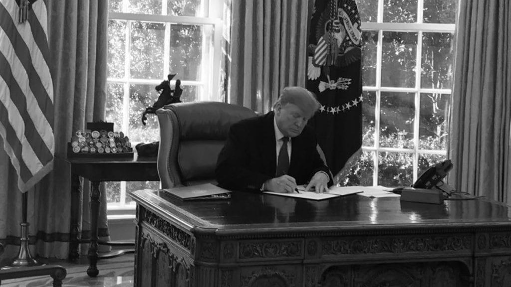 Trump signs declaration