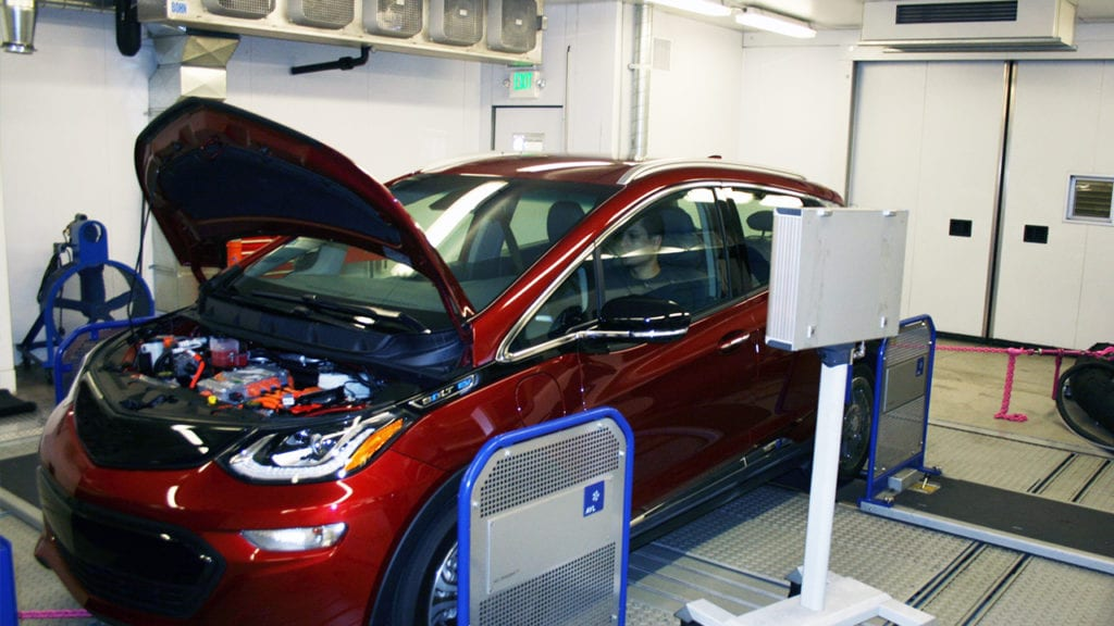 Electric vehicle testing