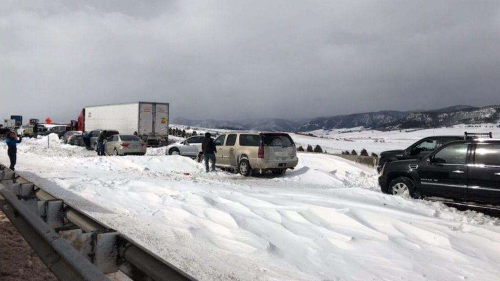 I-25 stranded cars