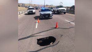 S. Academy pothole