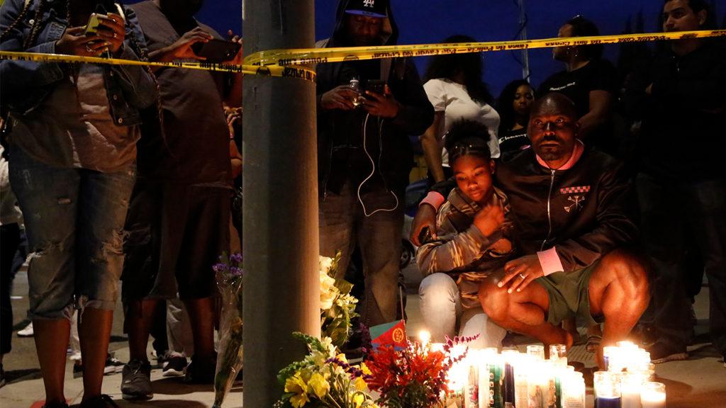 Nipsey Hussle mourners