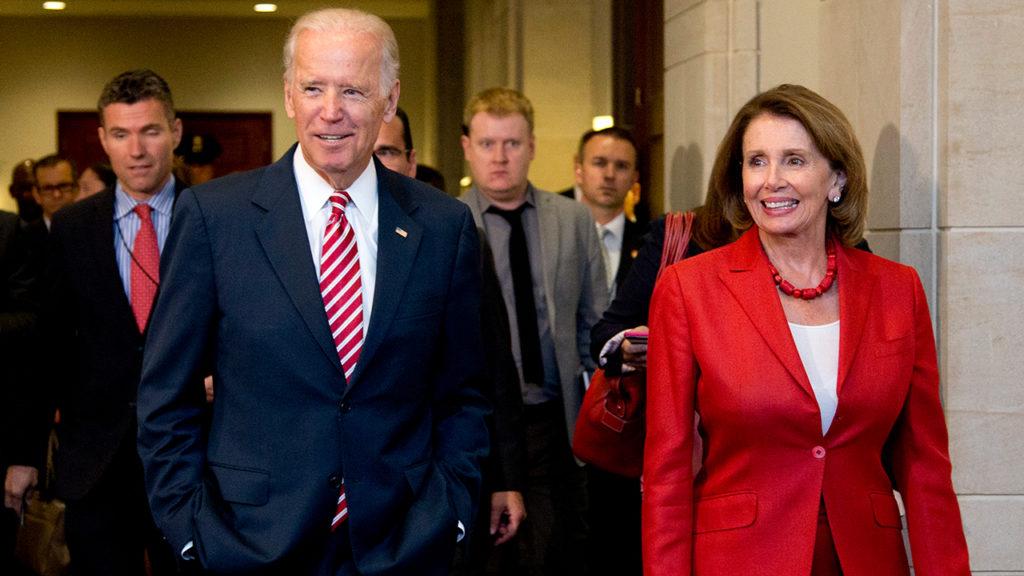 Joe Biden and Nancy Pelosi