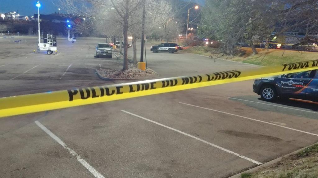 Walmart shooting scene