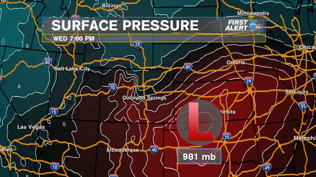 Wednesday Storm Surface Pressure